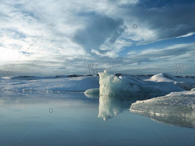 Jokulsarlon Lake at the South End of Vatnajokull Glacier, Iceland