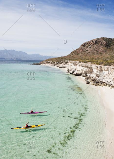 Kayaking, Carmen Island, Bahia de Loreto Parque Nacional, Baja California Sur, Baja California Peninsula, Mexico