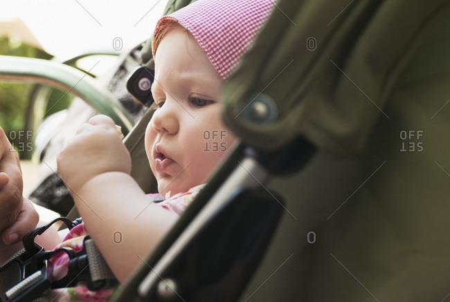 Baby Girl in Stroller - Offset