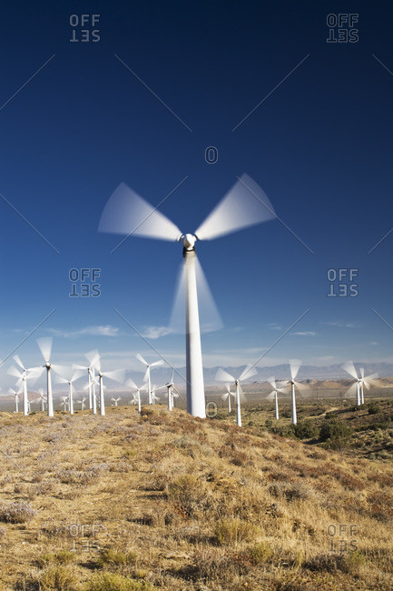 Tehachapi Pass Wind Farm, Tehachapi, Kern County, California, USA