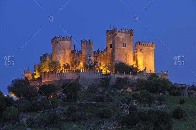 Castle of Almodovar del Rio, Almodovar del Rio, Cordoba Province, Andalusia, Spain