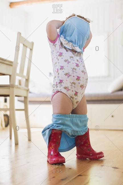 Girl Undressing