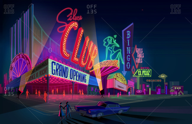Casinos and shows in old fashioned Las Vegas