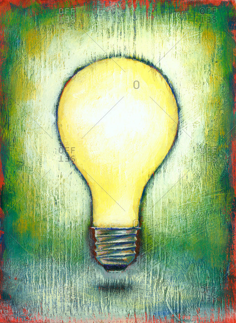 Painting of an Incandescent Lightbulb