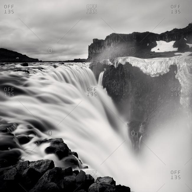 Dettifoss waterfall in Vatnajokull National Park in Northeast Iceland