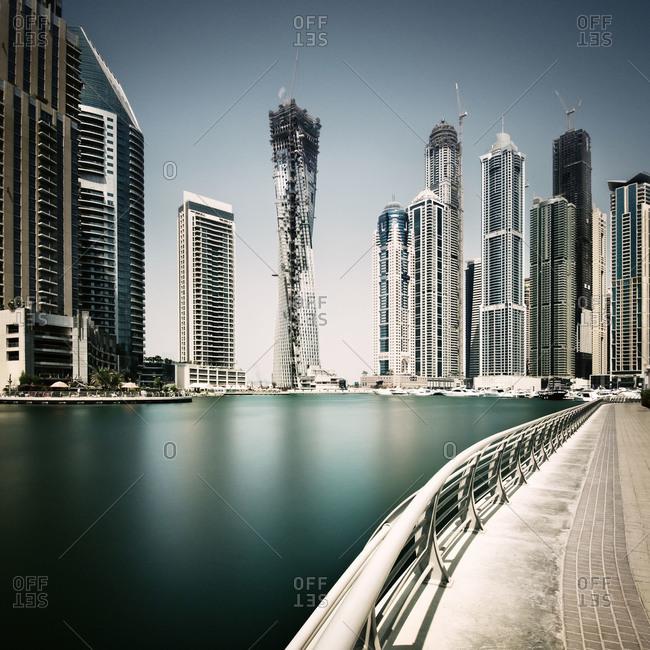 Dubai Marina is artificial canal in Dubai, United Arab Emirates