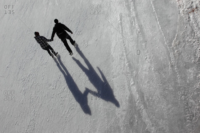 A couple enjoys a sunny afternoon on the Rideau Canal in Ottawa
