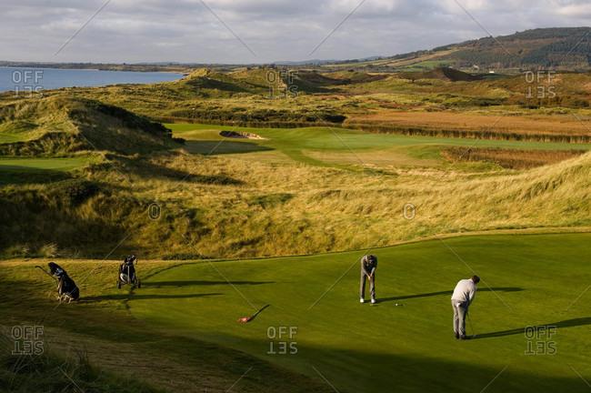 Golfing in County Wicklow, Ireland