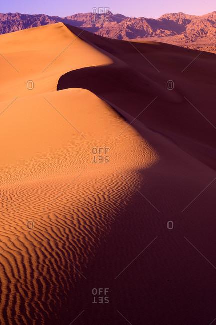 Desert scenic over sand dunes