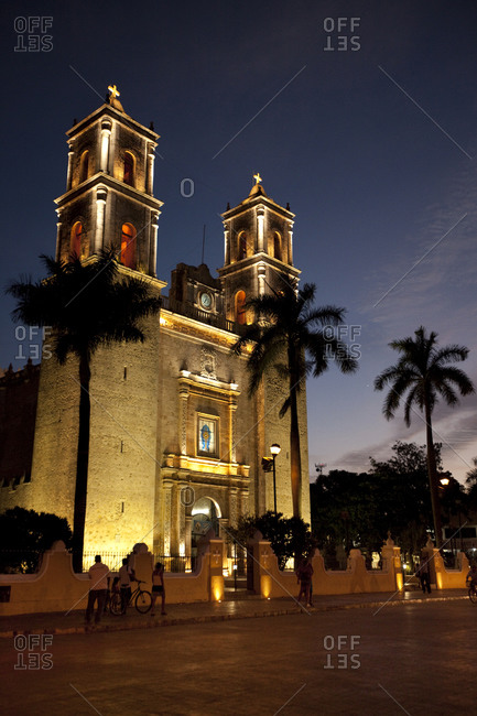 The colonial town of Valladolid in the Yucatan Peninsula