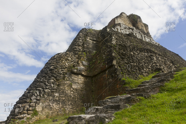 "Stone steps lead up to Xunantunich's ""El Castillo"""
