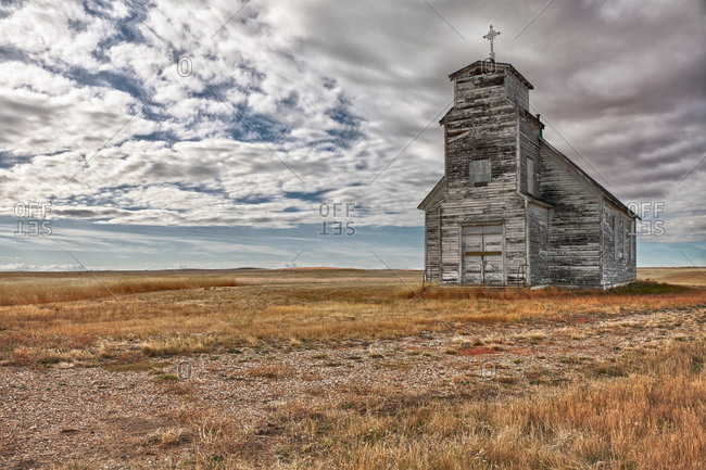 Historic St. Anthony\'s Church along Highway 885.