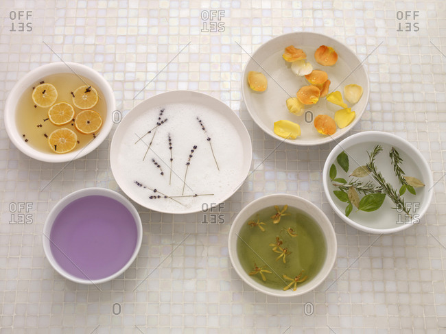 Various aroma-therapies overhead - Offset Collection