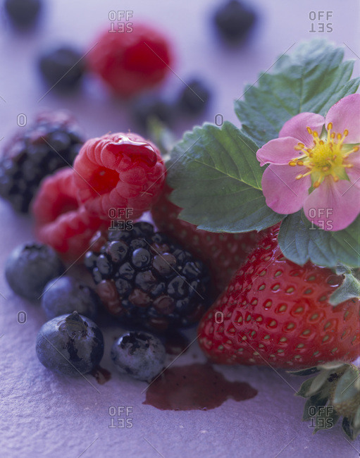 Strawberries, blueberries, raspberries and blackberries