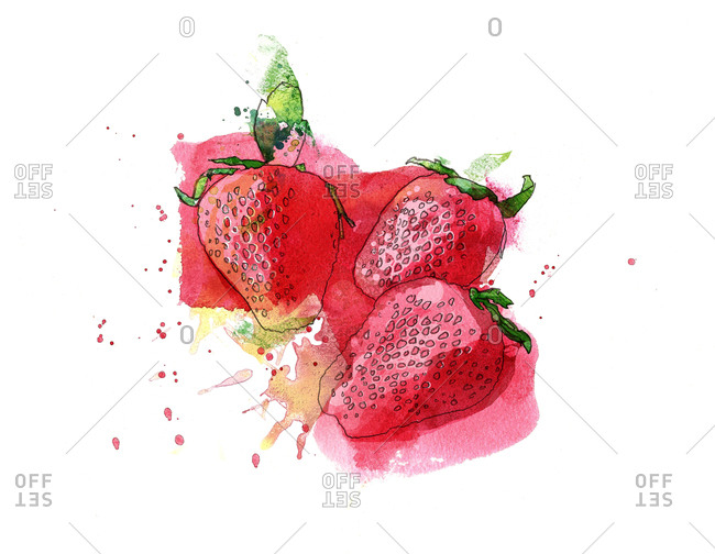 Three strawberries
