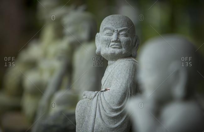 A stone figure at shuzenji temple