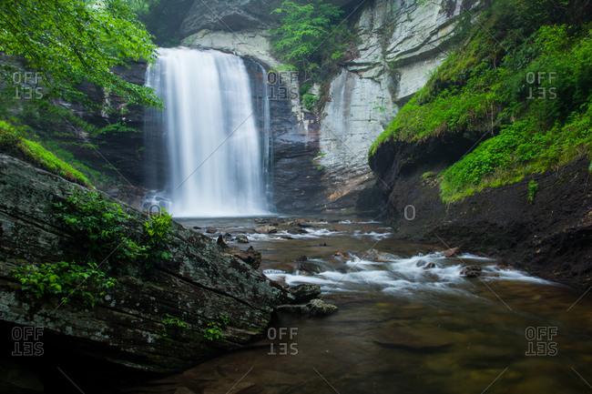 Looking Glass Falls, Pisgah National Forest, North Carolina USA