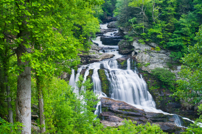 Breathtaking view of Cullasaja Falls at North Carolina, USA