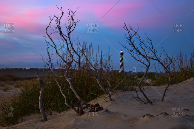 The famed Cape Hatteras lighthouse, outer banks, North Carolina