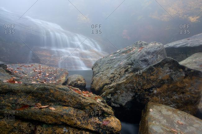 Second Falls of Yellowstone Prong in Blue Ridge Parkway, North Carolina, USA