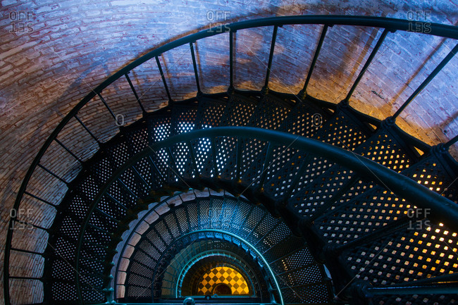 Currituck lighthouse interior staircase, outer banks, North Carolina