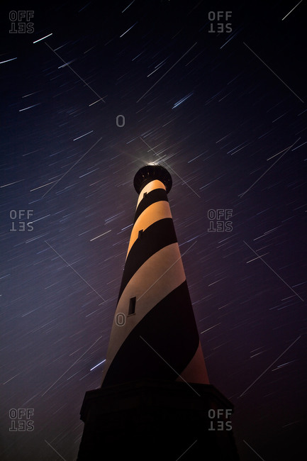 Cape Hatteras Lighthouse with Star Trails, Cape Hatteras National Seashore, North Carolina