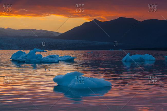 Jokulsarlon sunset at Iceland