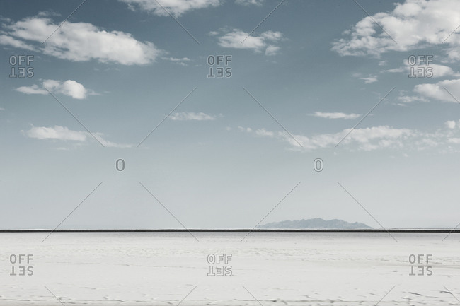 A view of a salt flat