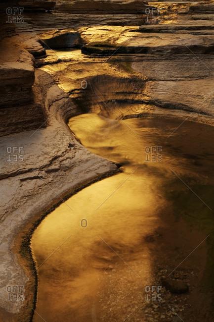 Reflected light, Matkatamiba Canyon, Grand Canyon, Arizona