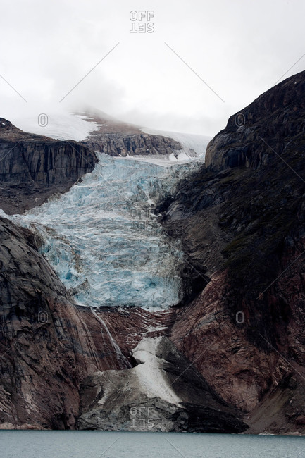 Retreating dog-tongued glaciers.