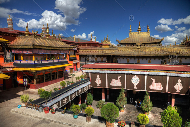 Jokhang Temple complex; originally constructed in A.D. 647.