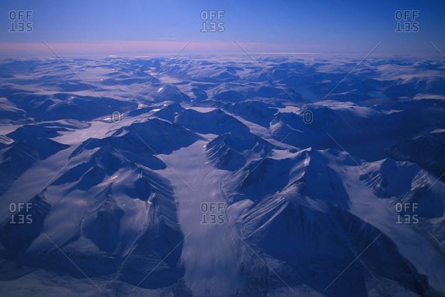 Aerial of glaciers