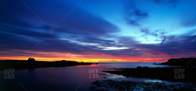 Sunset over Strangford Lough in County Down