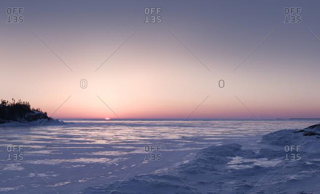 Ice On Surface Of Lake Superior