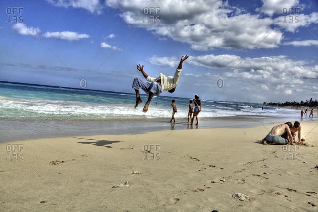 Backflip On A Sandy Beach