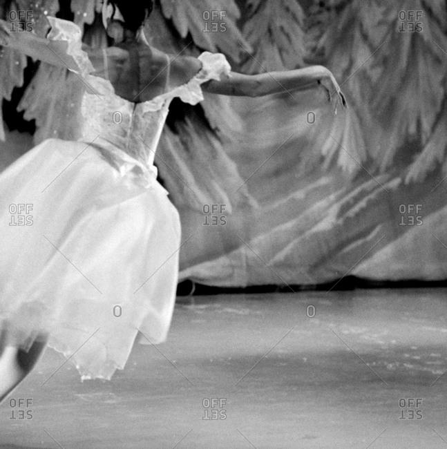 Back-view of a ballet dancer