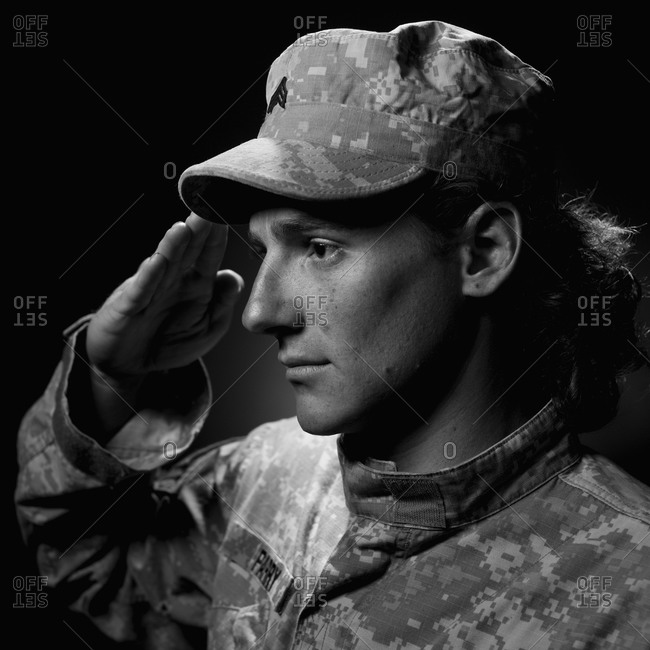 Jesse Parry US Marines 26 Years old Served in Afghanistan Shot in studio Telluride Colorado Model Released image