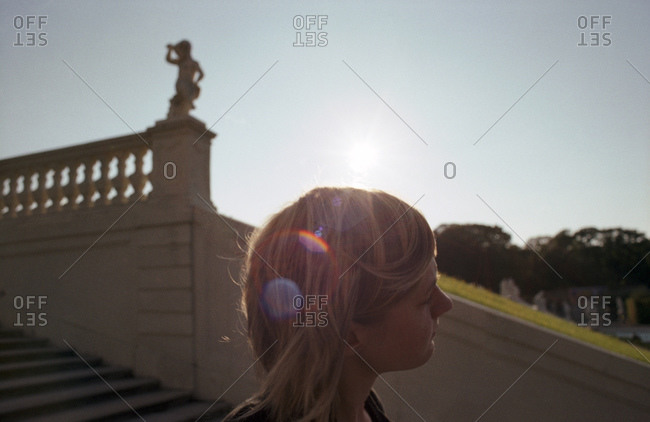 Girl\'S Hair In The Sun