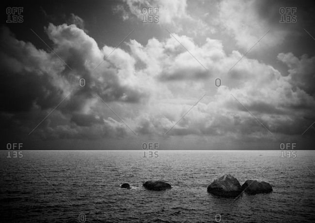 Dark and Cloudy Seascape