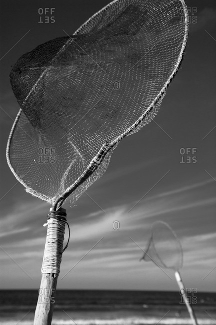 Fishing Nets Drying in the Wind