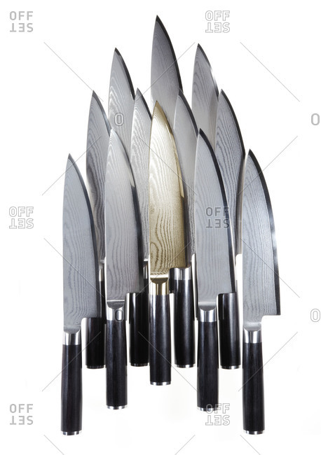 A bunch of sharp knives
