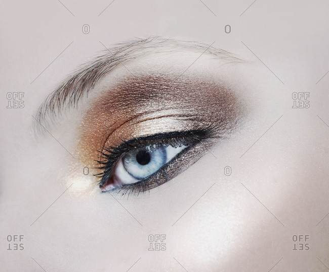 Close up of dramatic eye shadow