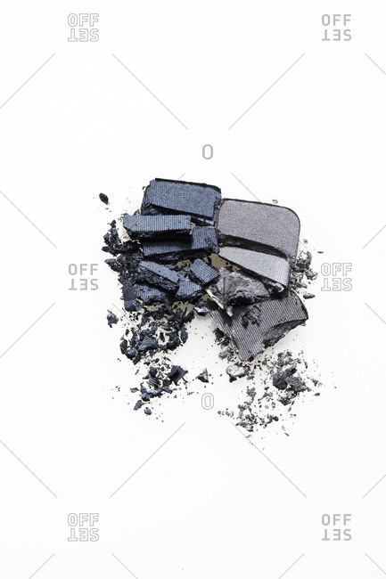 Two crushed eye shadows