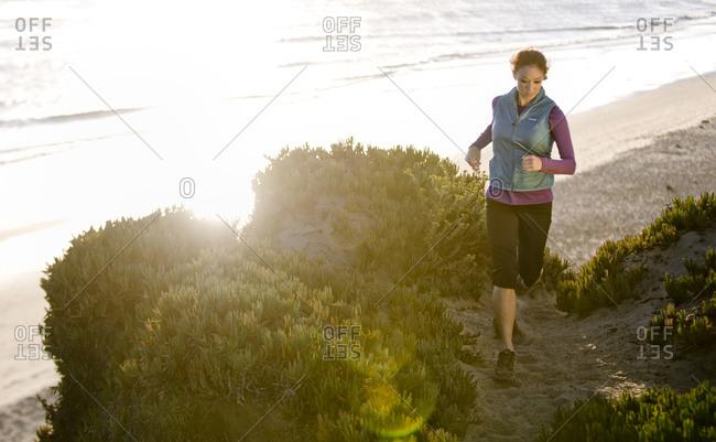 Triathlete Jenn Dedoes running