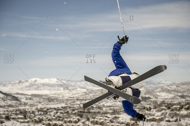 Winter Athletes: skiing in Steamboat Springs, Colorado, USA