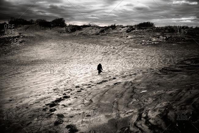 Figure in dunes