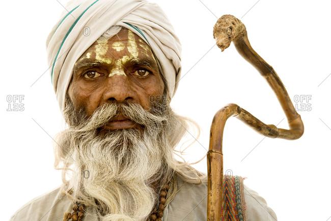 Portrait of a Hindu sadhu