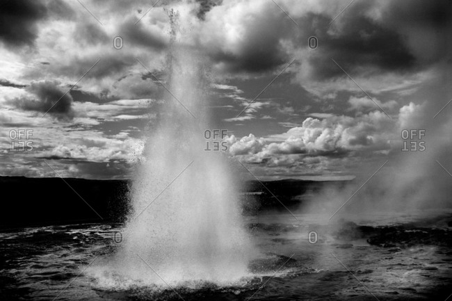 Geyser Erupting Into The Air
