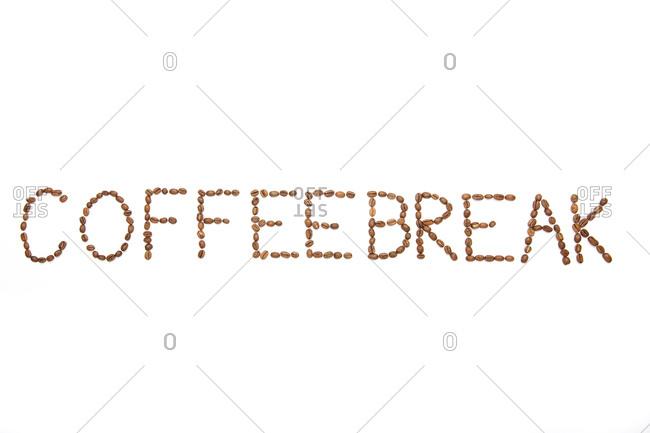 Coffee Beans Spelling Out \'Coffee Break\'