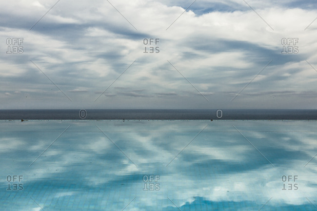 Cloud reflection in a pool in Sayulita, Mexico